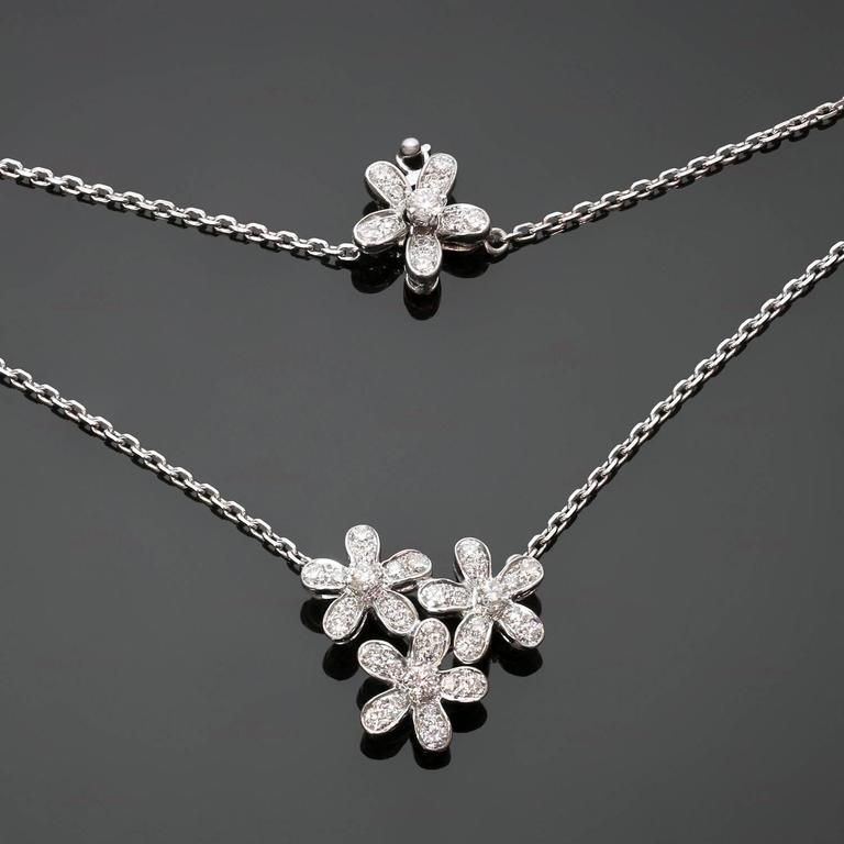 Van cleef and arpels socrate diamond gold three flower pendant van cleef arpels socrate diamond gold three flower pendant necklace in excellent condition for aloadofball Gallery