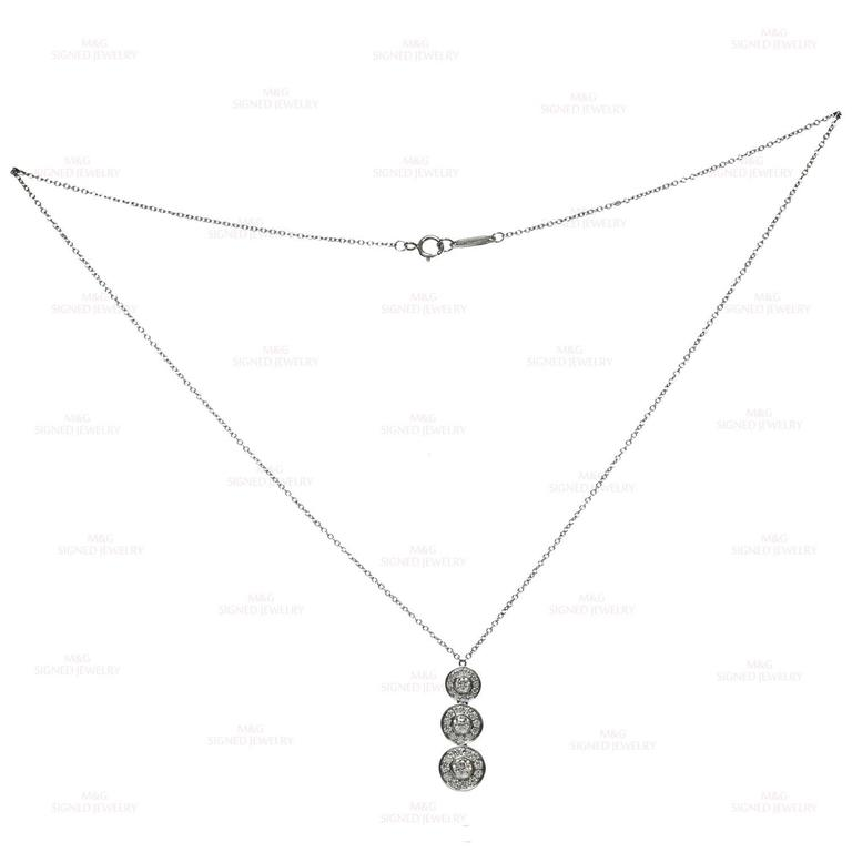 Tiffany & Co. Circlet Diamond Platinum Pendant Necklace For Sale 2