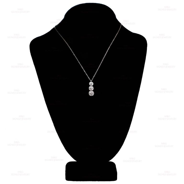 Women's Tiffany & Co. Circlet Diamond Platinum Pendant Necklace For Sale