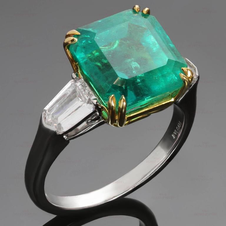 Bulgari 6 13 Carat Gia Cert Colombian Emerald Diamond