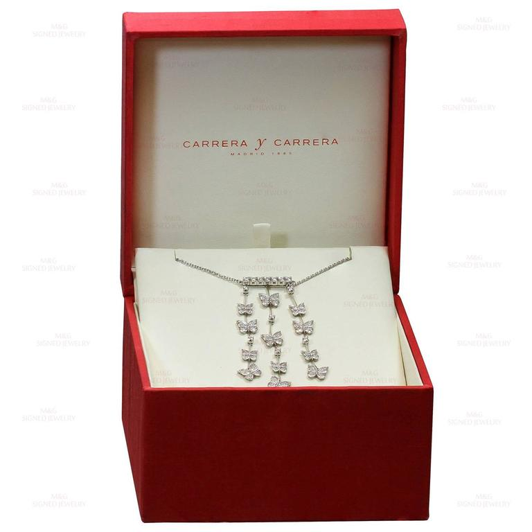 CARRERA Y CARRERA Butterflies Diamond White Gold Necklace 2