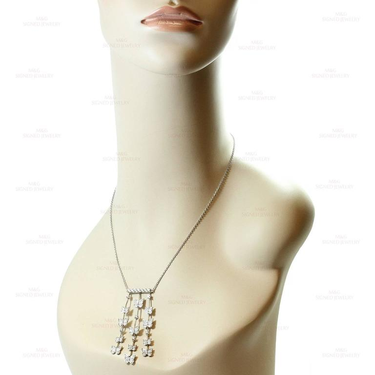 CARRERA Y CARRERA Butterflies Diamond White Gold Necklace 5