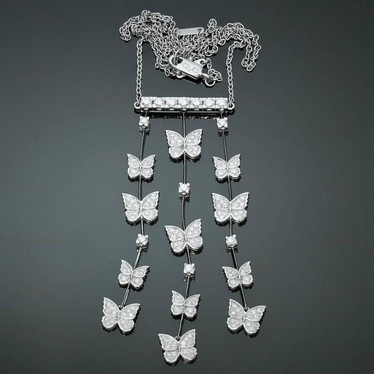 CARRERA Y CARRERA Butterflies Diamond White Gold Necklace 3