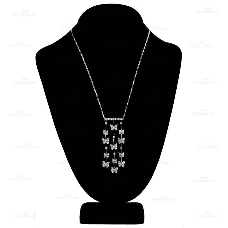 CARRERA Y CARRERA Butterflies Diamond White Gold Necklace 4
