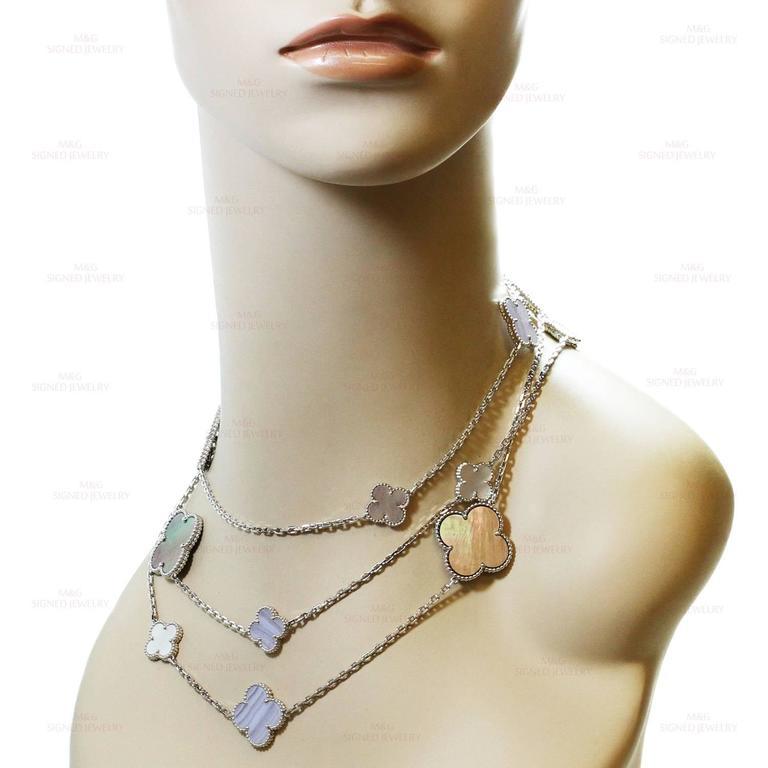 Van Cleef & Arpels Magic Alhambra Gold 16 Motif Long Necklace 4