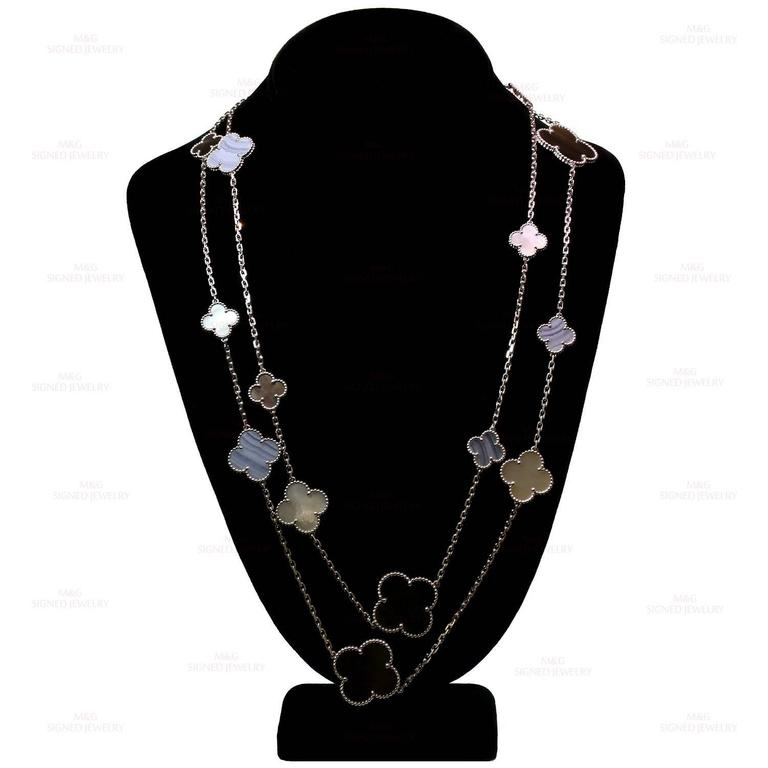 Van Cleef & Arpels Magic Alhambra Gold 16 Motif Long Necklace 5