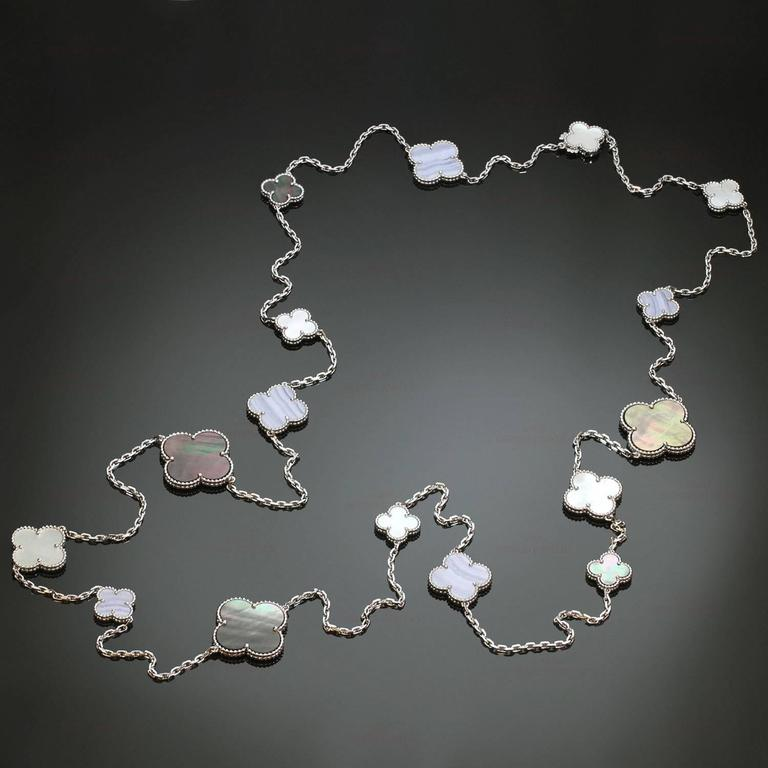 Van Cleef & Arpels Magic Alhambra Gold 16 Motif Long Necklace 2