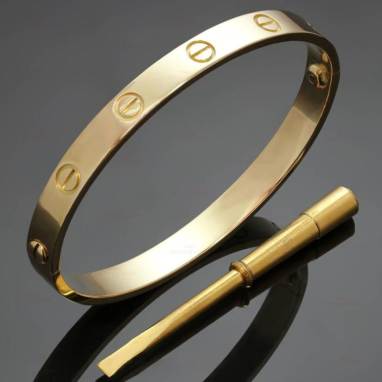 love bangles bangle bracelet product raton cartier rose gold size boca