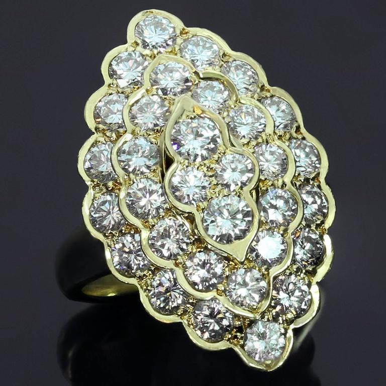 1980s VAN CLEEF & ARPELS  Diamond Yellow Gold Ring 2