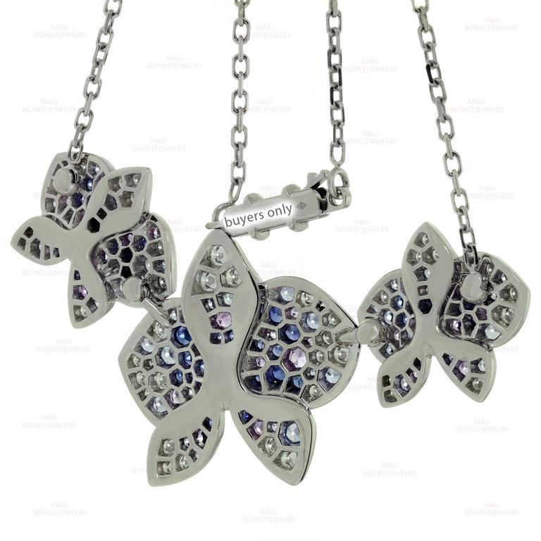 CARTIER Caresse D'Orchidees Diamond Sapphire Amethyst Necklace 7