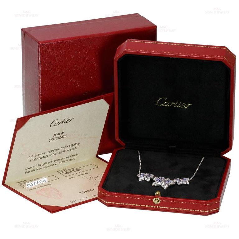CARTIER Caresse D'Orchidees Diamond Sapphire Amethyst Necklace 3