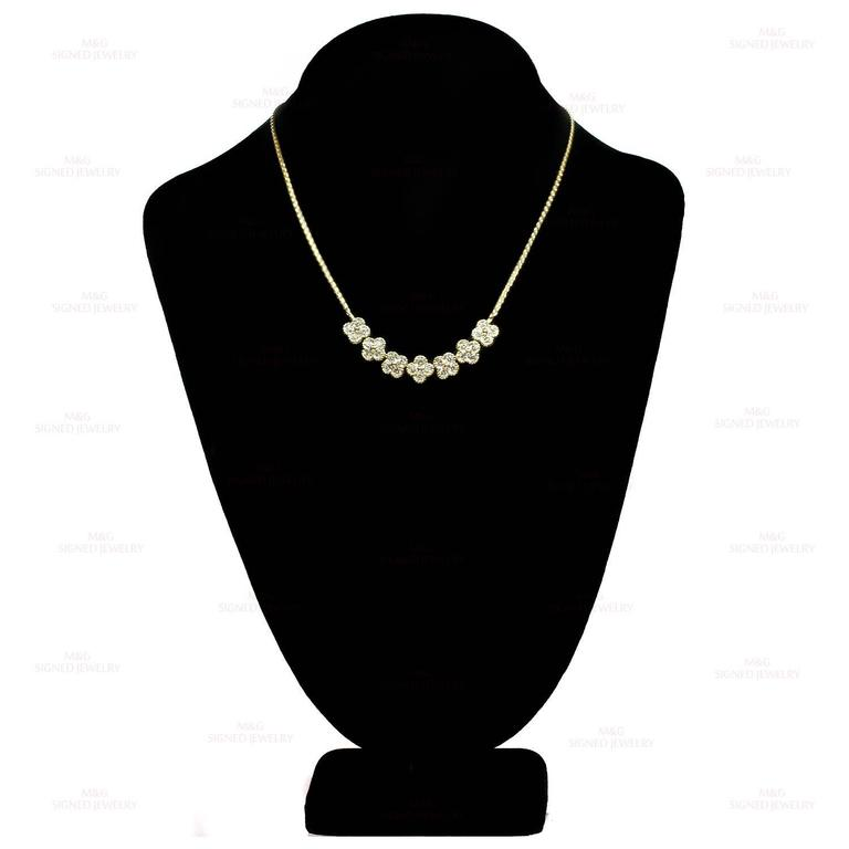 Van Cleef & Arpels Arno Alhambra Diamond Yellow Gold Necklace 4