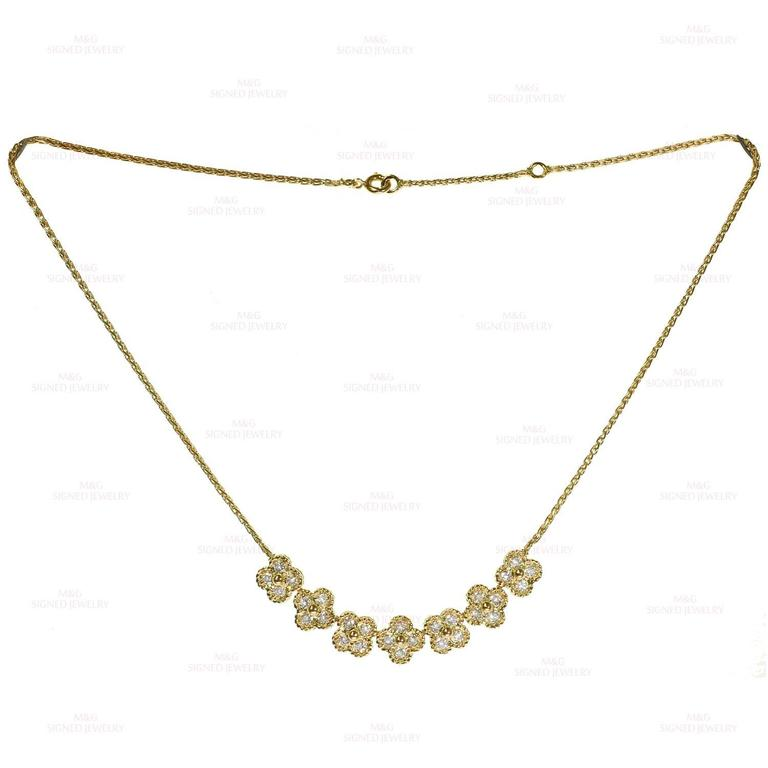 Van Cleef & Arpels Arno Alhambra Diamond Yellow Gold Necklace 6