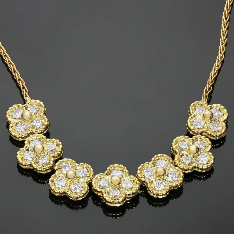 Van Cleef & Arpels Arno Alhambra Diamond Yellow Gold Necklace 2
