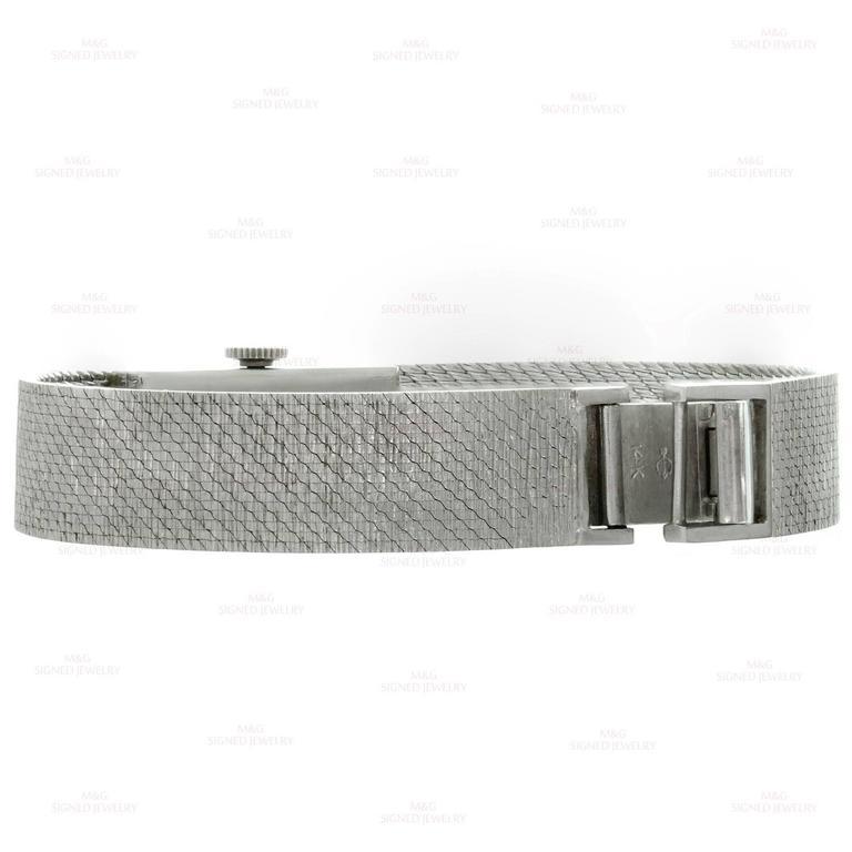 Tiffany & Co. Ladies White Gold Diamond Blue Sapphire mechanical Wristwatch  7