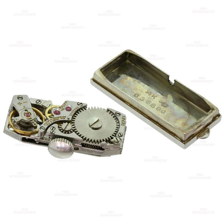 Tiffany & Co. Ladies White Gold Diamond Blue Sapphire mechanical Wristwatch  8