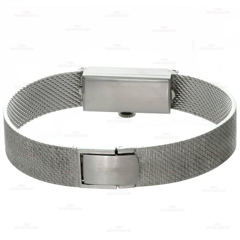 Tiffany & Co. Ladies White Gold Diamond Blue Sapphire mechanical Wristwatch  6