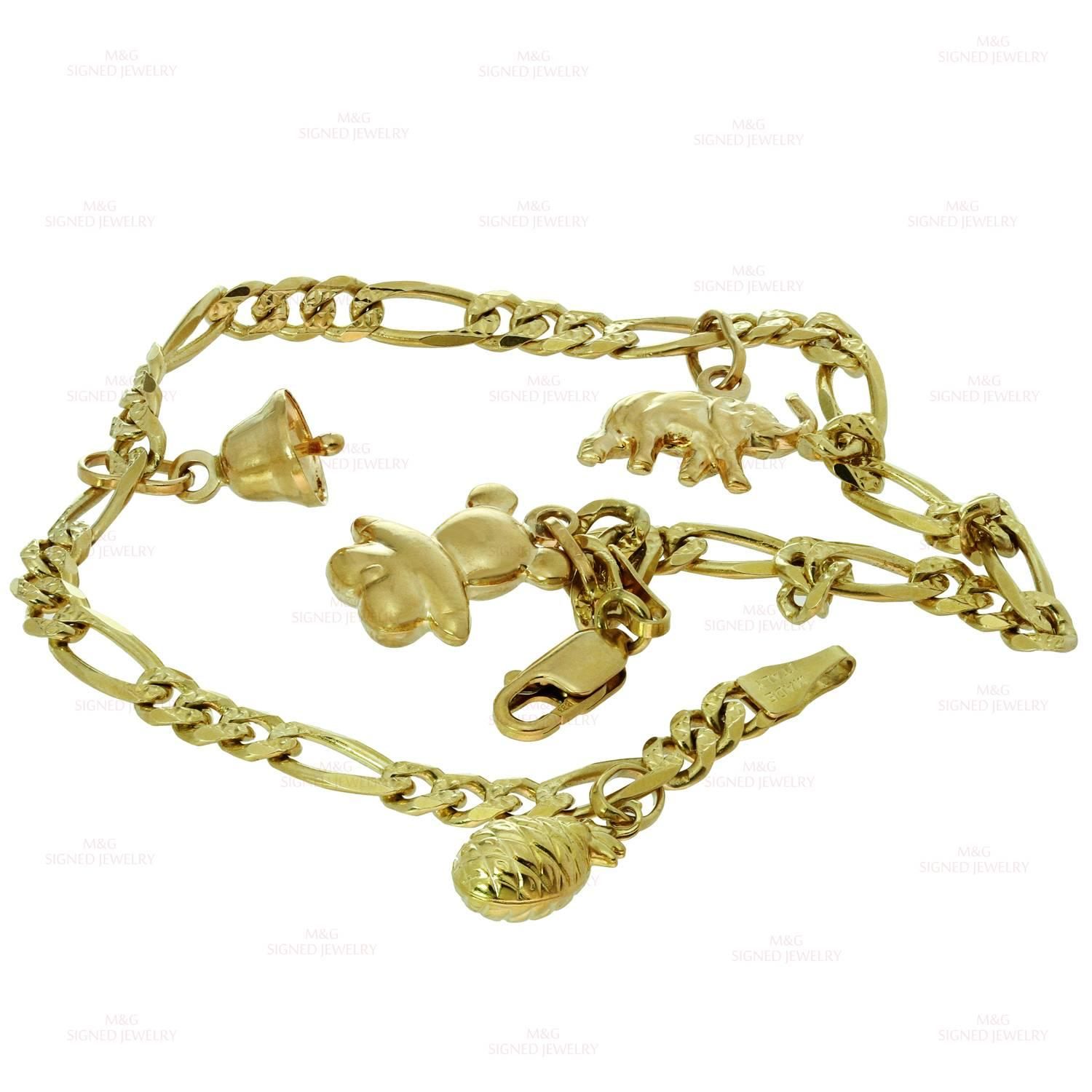 jewelry bracelet gold in diamond rose chain meira k pink lyst fullscreen bar t view karat anklet and