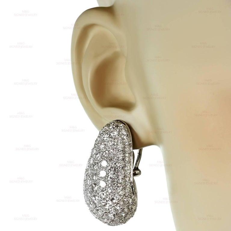 Women's Van Cleef & Arpels Diamond Platinum Earrings For Sale