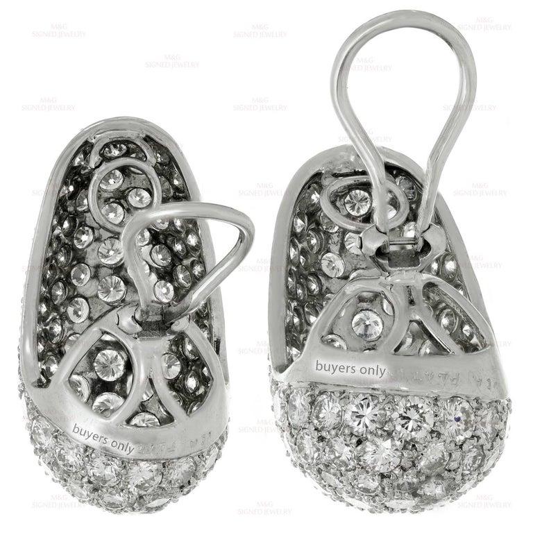 Van Cleef & Arpels Diamond Platinum Earrings For Sale 2