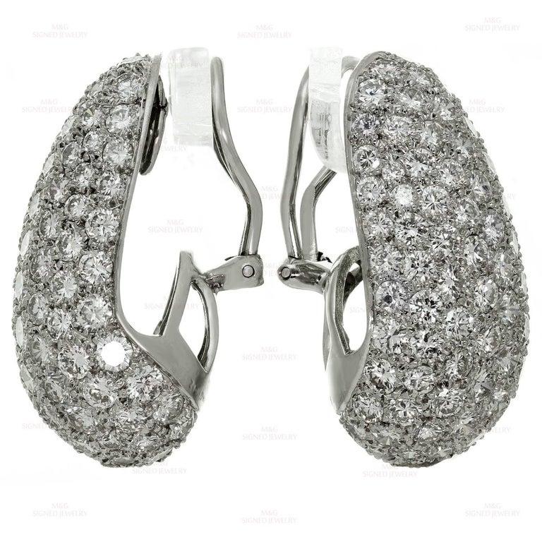 Van Cleef & Arpels Diamond Platinum Earrings For Sale 1