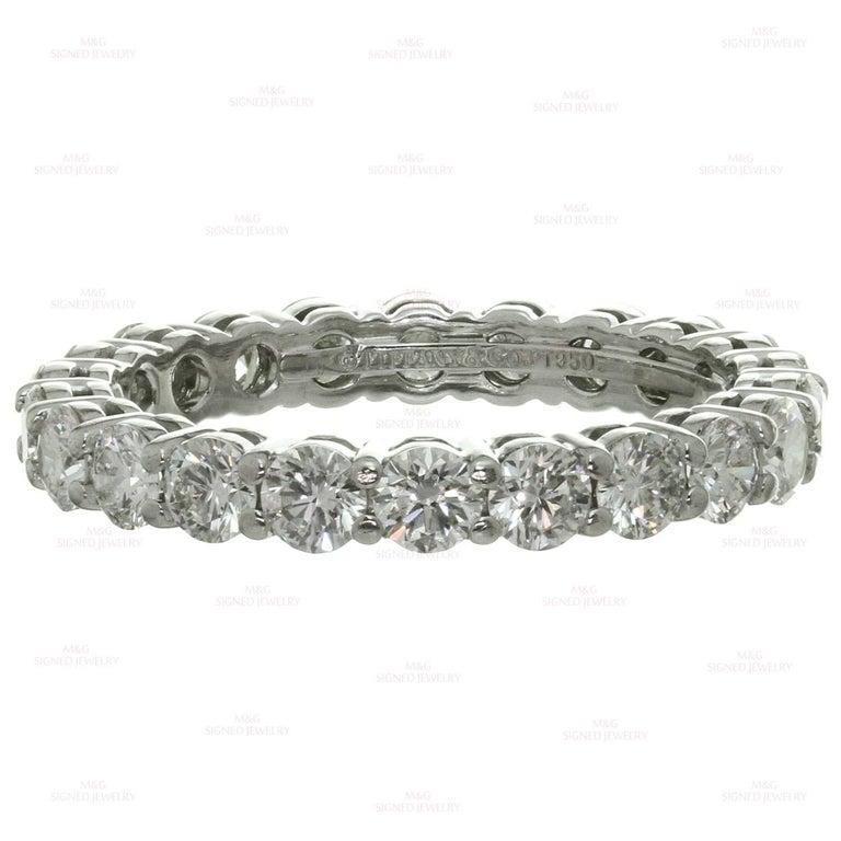 Tiffany & Co. Embrace Diamond Platinum Band Ring 4