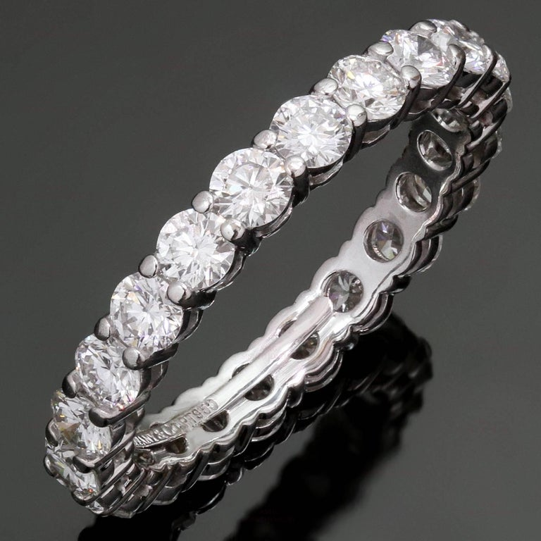 Tiffany and co embrace diamond platinum band ring for for What is platinum jewelry made of