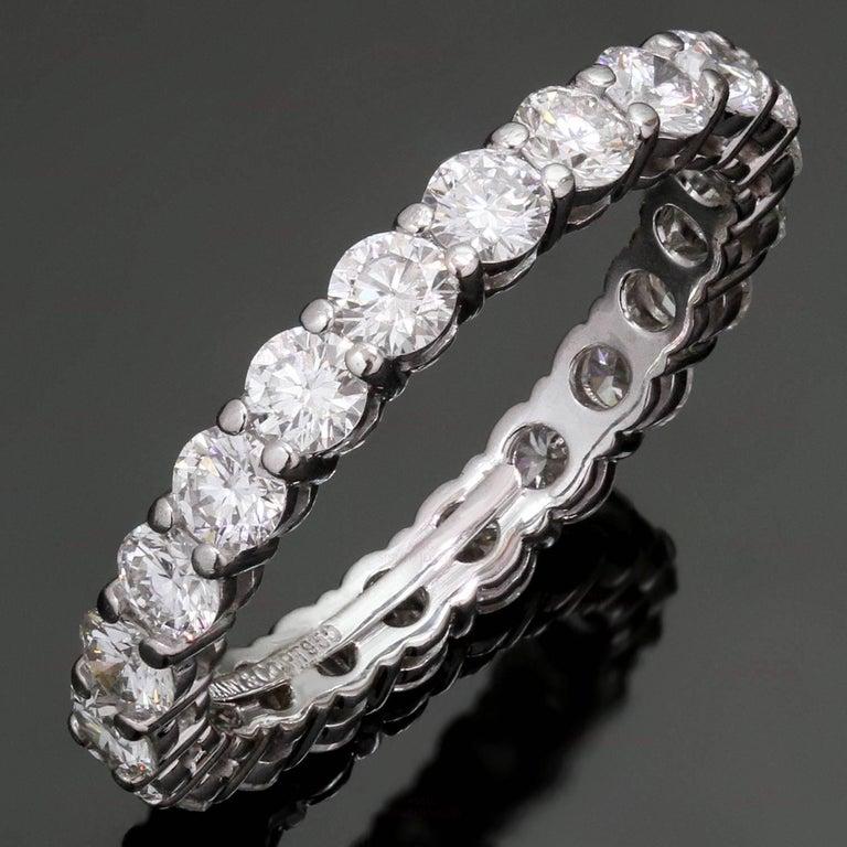 Tiffany & Co. Embrace Diamond Platinum Band Ring 2