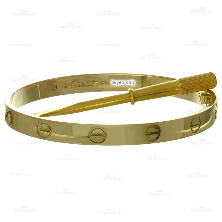 Cartier Love Yellow Gold Bracelet 5
