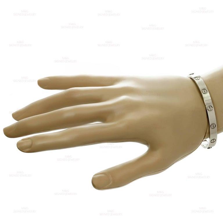 Cartier Love White Gold Bracelet 4