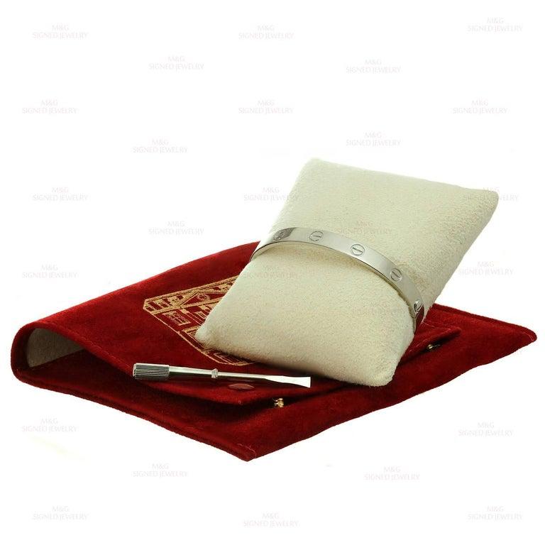 Cartier Love White Gold Bracelet 3