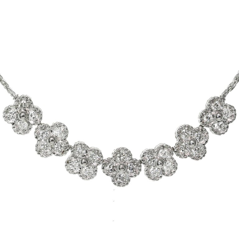 Van Cleef & Arpels Arno Alhambra Diamond White Gold Necklace For Sale