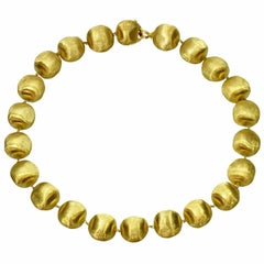 MarCo Bicego Africa Yellow Gold Large Bead Necklace