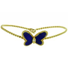 Van Cleef & Arpels Flying Beauties Blue Lapis Lazuli Butterfly Bracelet