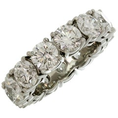 Graff Round Diamond Platinum Wedding Band Ring GIA Box