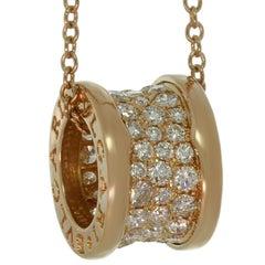 Bulgari B.Zero1 Diamond Rose Gold Pendant Necklace