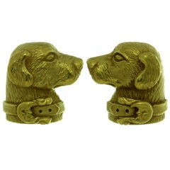 Kieselstein-Cord Yellow Gold Labrador Dog Cufflinks