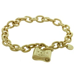 Tiffany & Co. Round Link Chain Yellow Gold Lock Bracelet