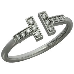 Tiffany & Co. T Wire Diamond White Gold Ring