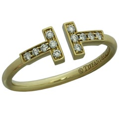 Tiffany & Co. T Wire Diamond Yellow Gold Ring