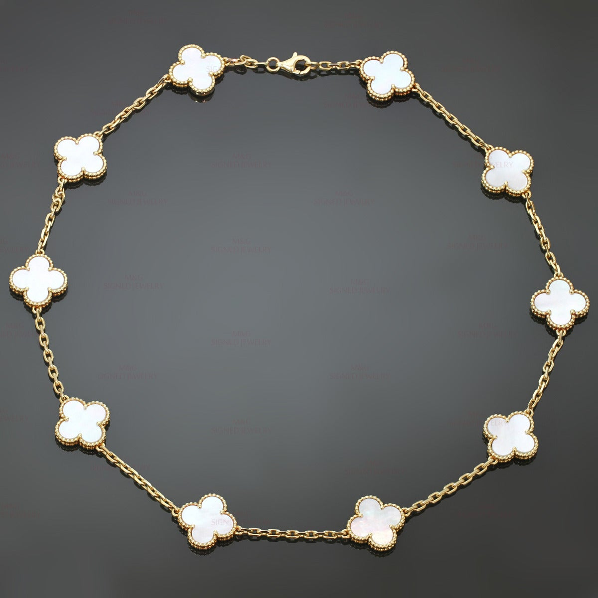 Van Cleef And Arpels Mother Of Pearl Necklace: Van Cleef And Arpels Alhambra Mother-of-Pearl Gold