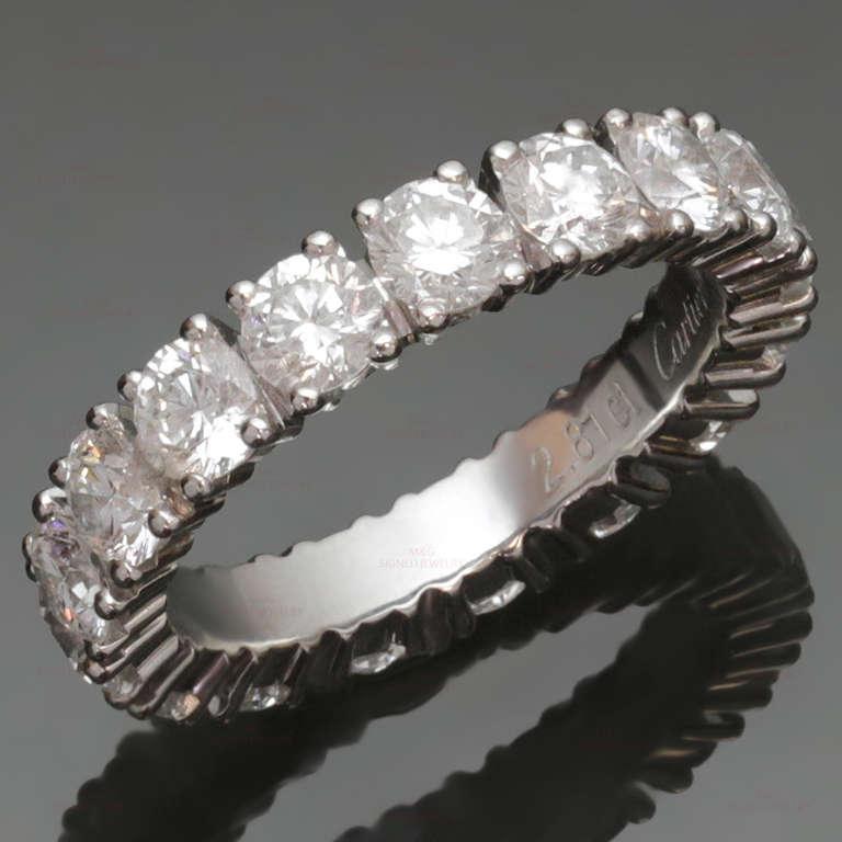 CARTIER Classic Diamond 2.81 Carat Platinum Eternity Band Size 49 ...