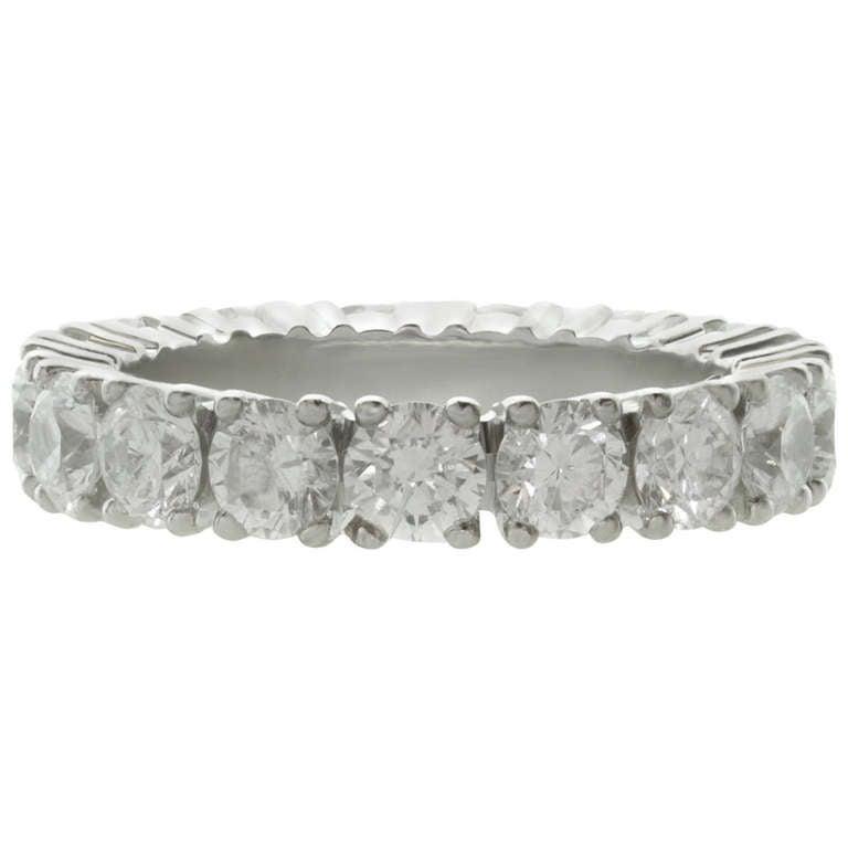 Cartier Infinity Bracelet: CARTIER Classic Diamond 2.81 Carat Platinum Eternity Band