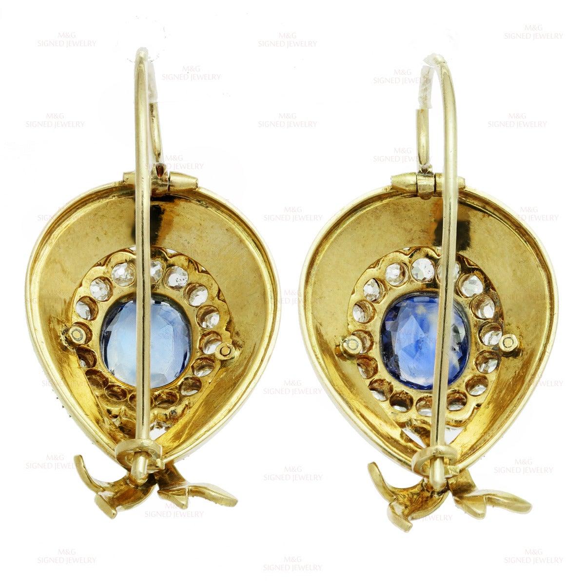 Victorian Enamel Sapphire Diamond Gold Jewelry Suite 9