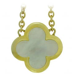 Van Cleef & Arpels Pure Alhambra Mother-of-Pearl Gold Pendant