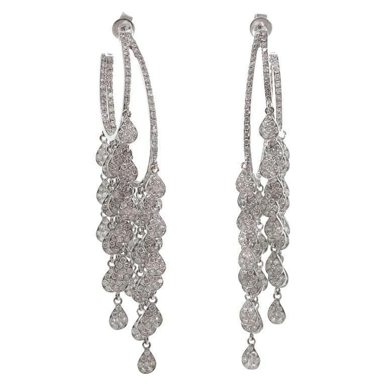Modern diamond white gold chandelier earrings for sale at 1stdibs modern diamond white gold chandelier earrings for sale aloadofball Choice Image