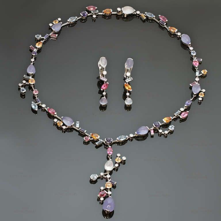 cartier meli melo multicolor gemstone necklace and