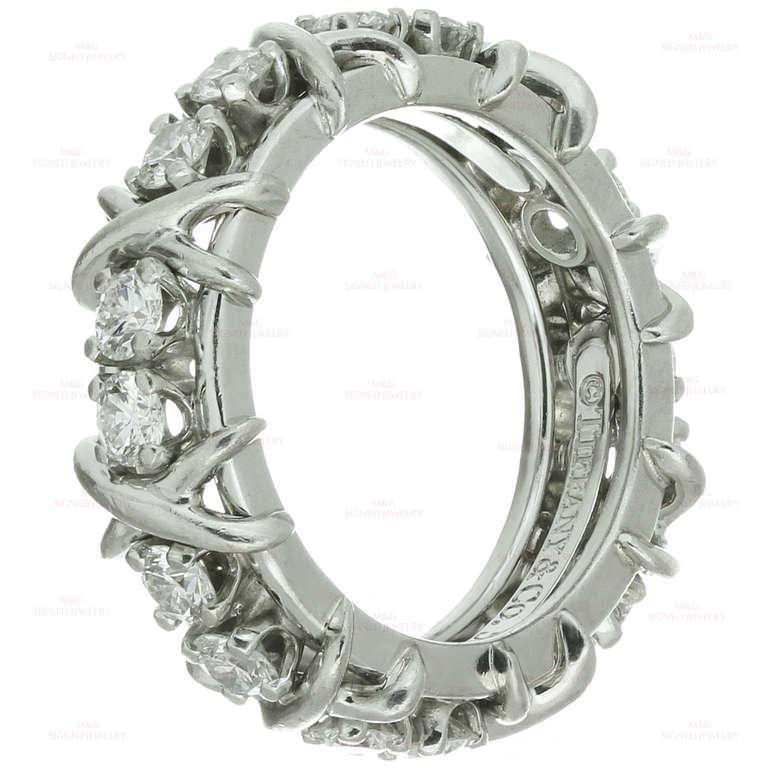 Tiffany And Co Jean Schlumberger Sixteen Stone Diamond X