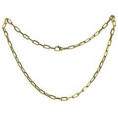 Cartier Santos-Dumont Yellow Gold Men's Link Chain