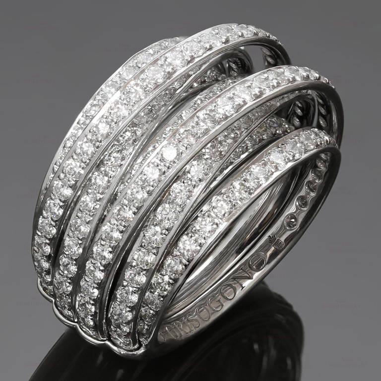 DE GRISOGONO Allegra Diamond White Gold Ring Size 50 at ...